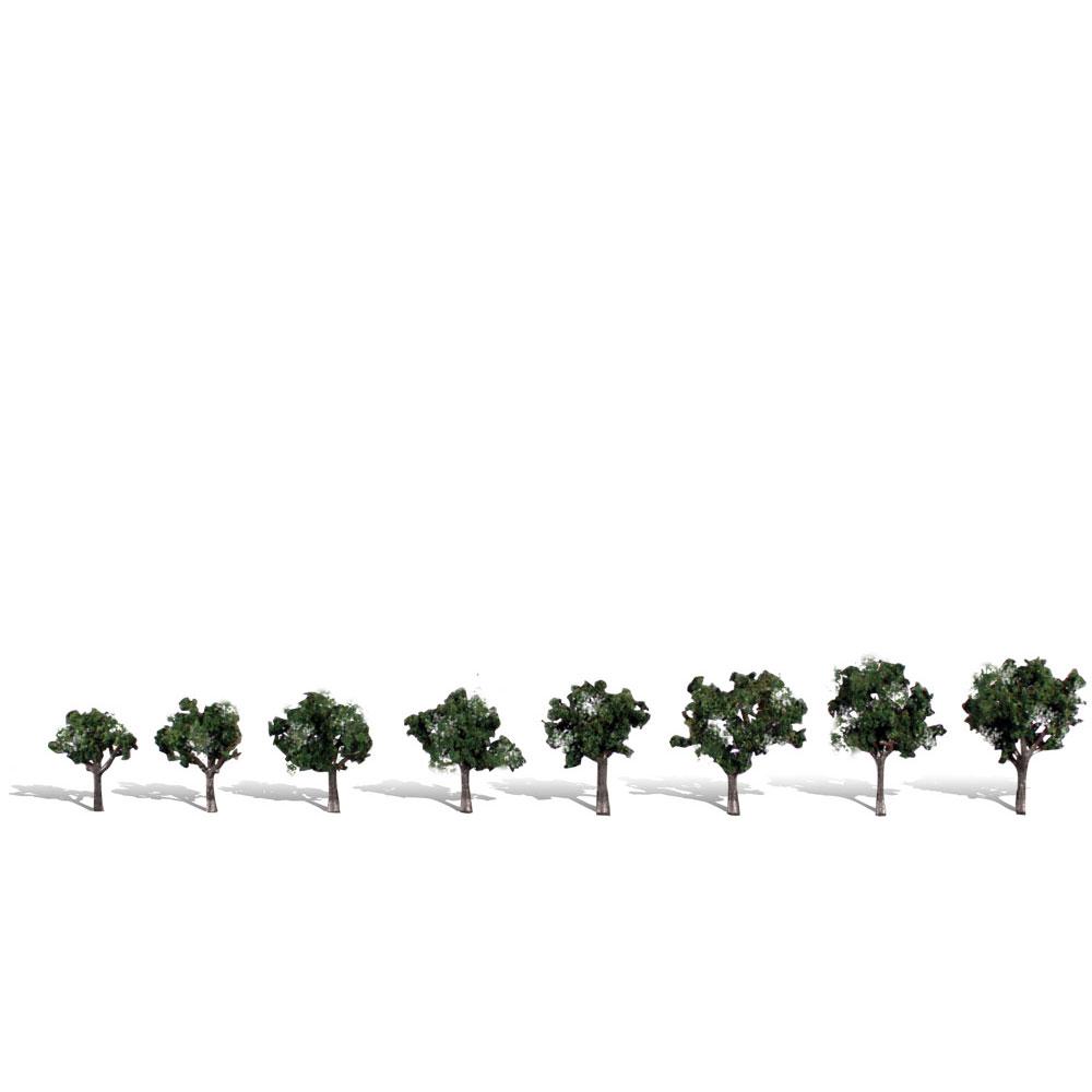 広葉樹 1.9〜3.17cm 8本 :ウッドランド 完成品 ノンスケール 3547