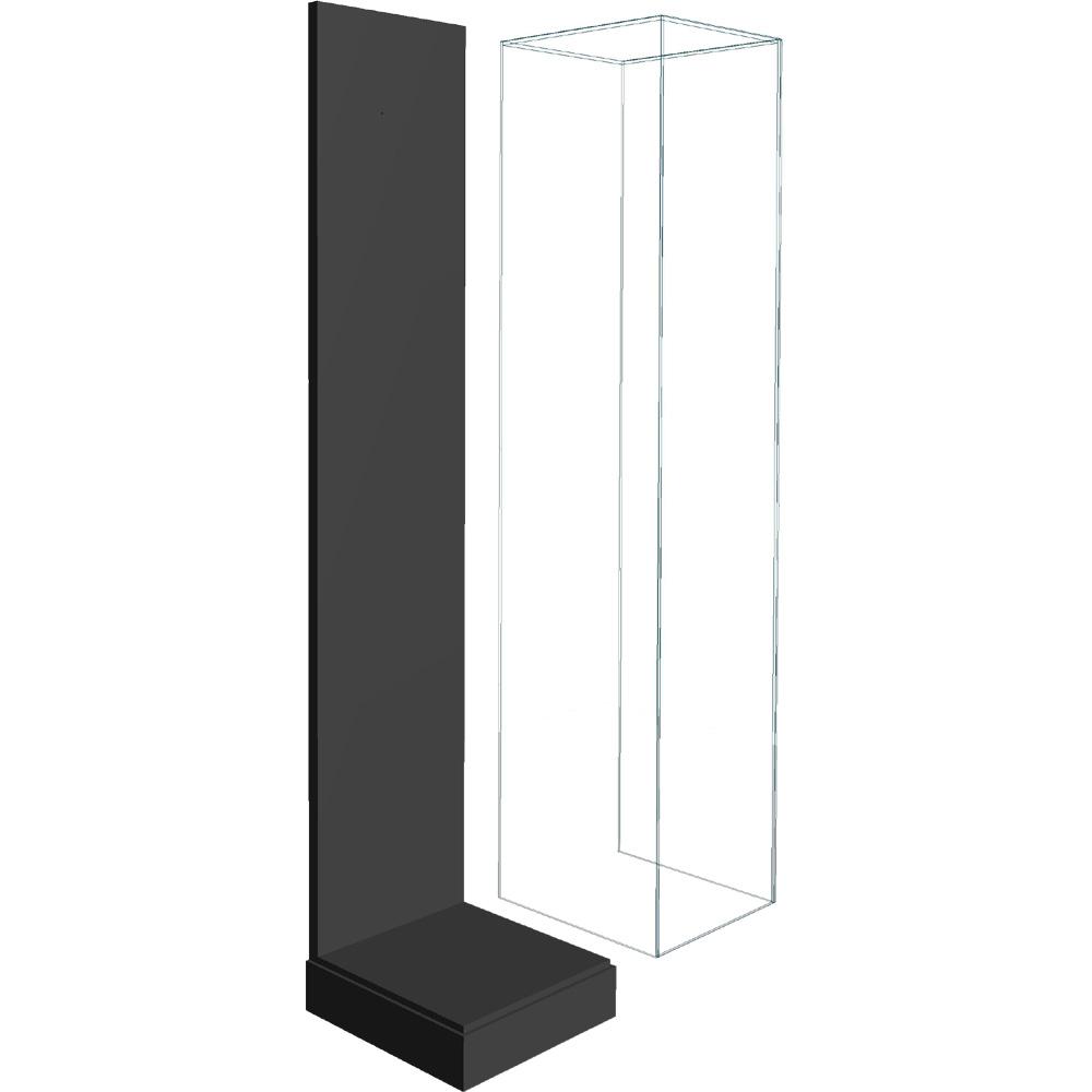 タワー用 アクリル展示ケース(背板黒色) :さかつう ケース ノンスケール 8804