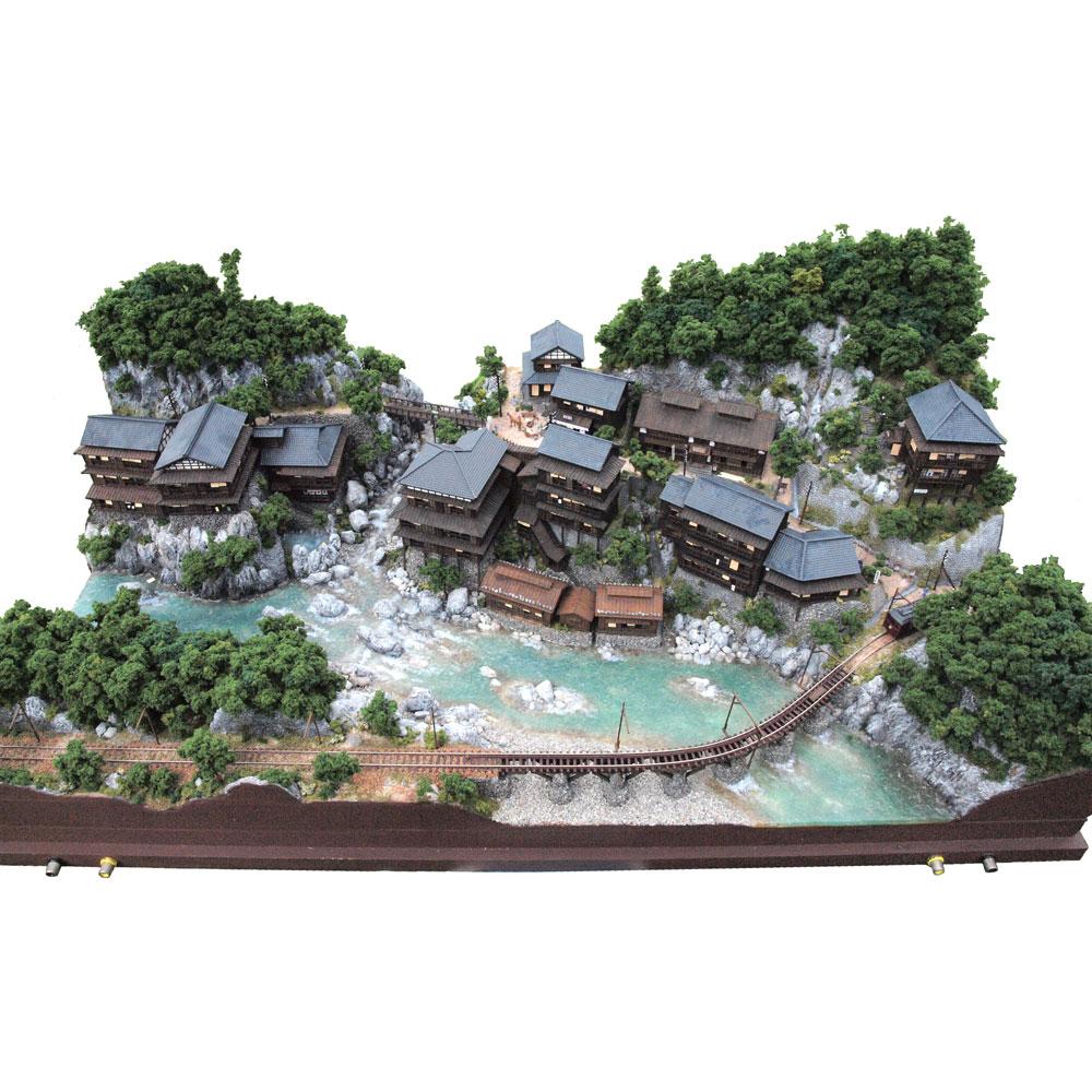 温泉郷の電気軌道セクション :山尾比呂士 塗装済完成品 1/150サイズ