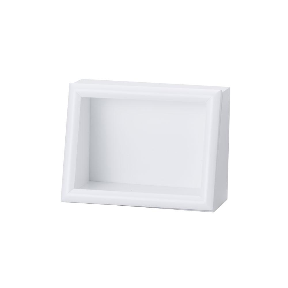 ななめボックス AC 2Lヨコ ホワイト :cazaro 展示ケース B0201