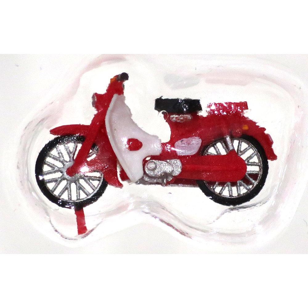 ホンダ・スーパーカブ 赤 スタンダード :エコーモデル 塗装済完成品 HO(1/80) 5013