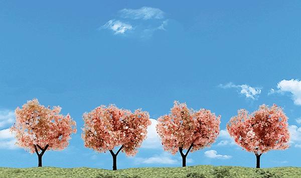 桜の木 5〜7.6cm 4本入り :ウッドランド 塗装済完成品 ノンスケール 3593