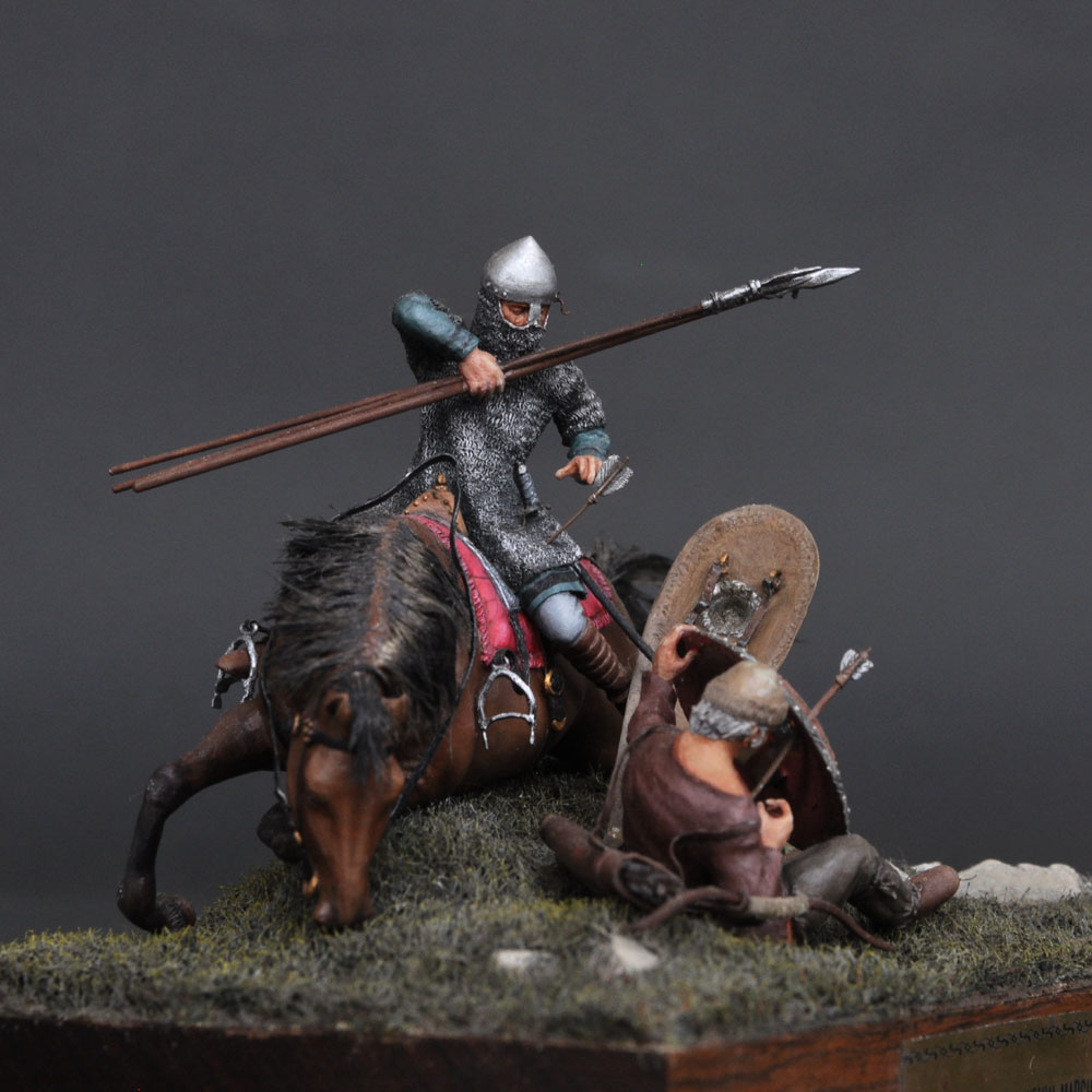 ENGLAND 1066 イングランド槍騎兵 :淺木紳士郎 塗装済完成品 1/35