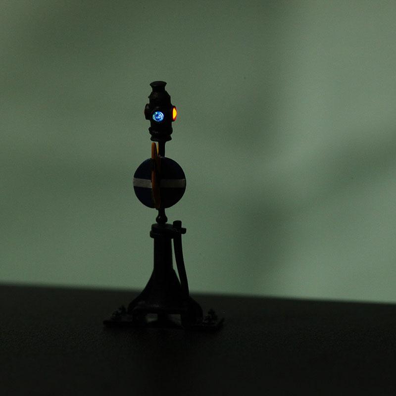 標識付転換器 中型 (テコ付転轍器標識) 2台セット :工房ナナロクニ 塗装済完成品 1/80(HO) 1052