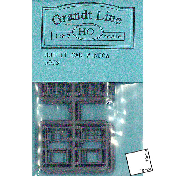 洋風窓 窓枠 アウトフィットカーウィンドウ(OUTFIT CAR WINDOWS) :グラントライン 未塗装キット HO(1/87) 5059
