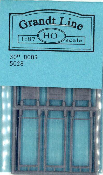 木製ドア 窓つき :グラントライン 未塗装キット(部品) HO(1/87) 5028