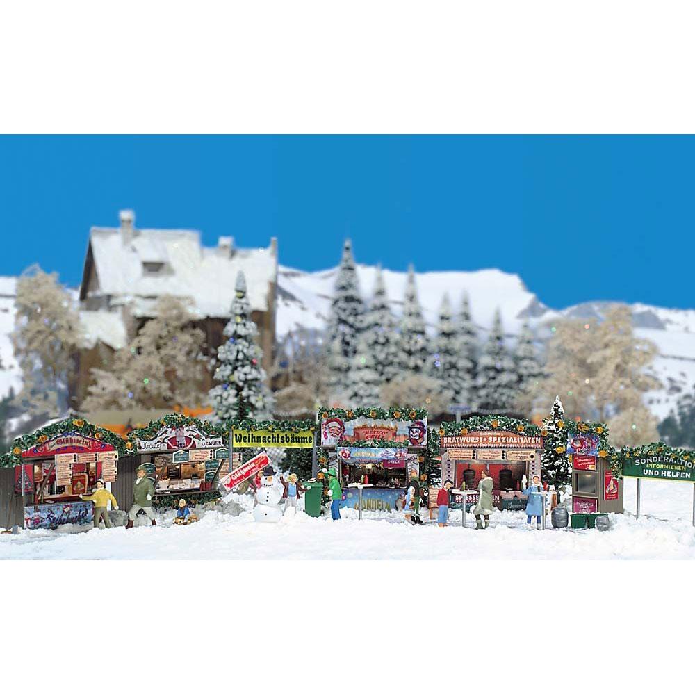 クリスマスマーケット(屋台露店セット) :ブッシュ 未塗装キット HO(1/87) 1059