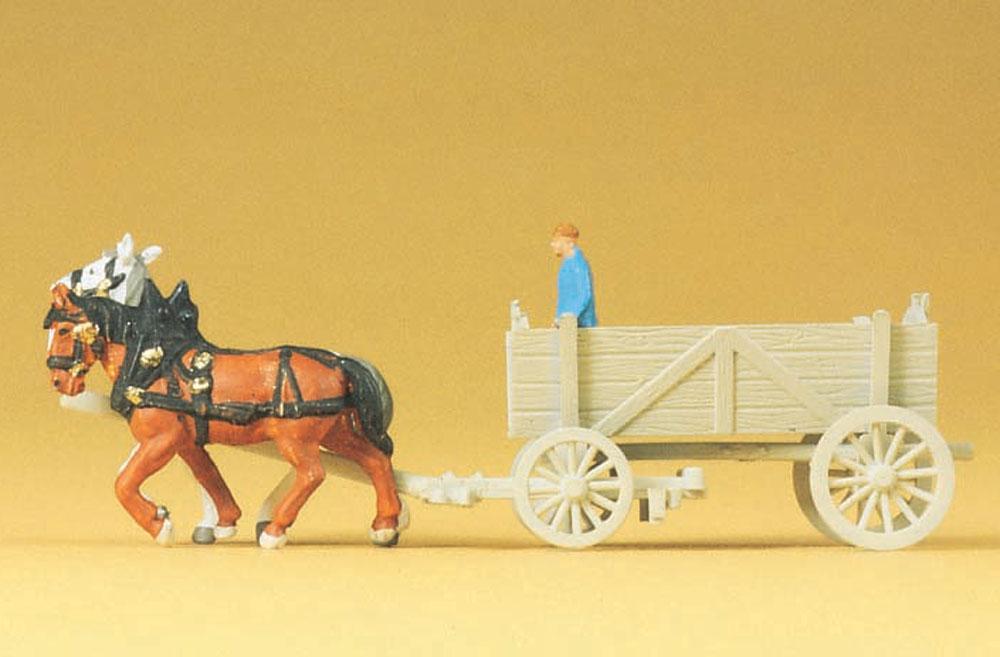 2頭立ての荷馬車 :プライザー 塗装済完成品 N(1/160) 79475