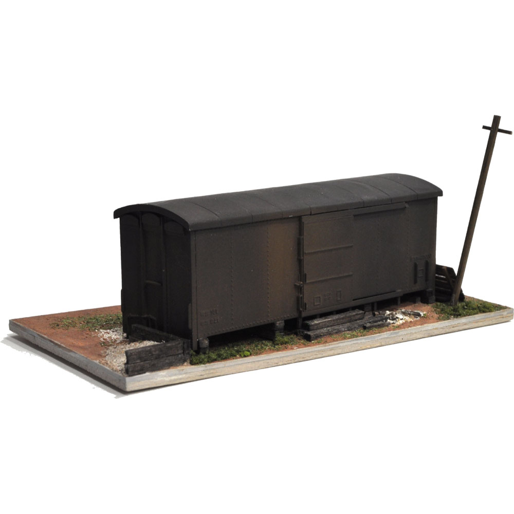 弘南鉄道風貨車ダルマのある情景 :松井工機 塗装済完成品 HO(1/80)