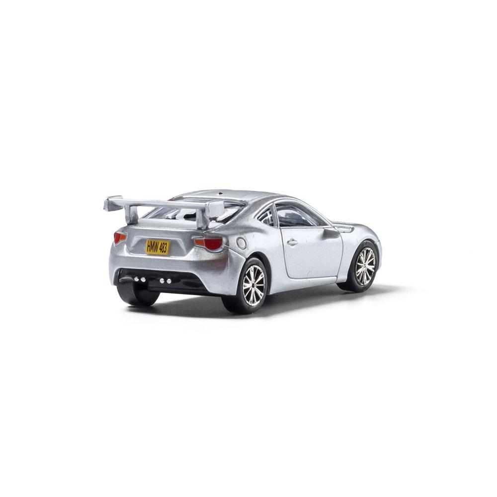 【模型】 スポーツカー(シルバー) :ウッドランド 塗装済完成品 HO(1/87) AS5368