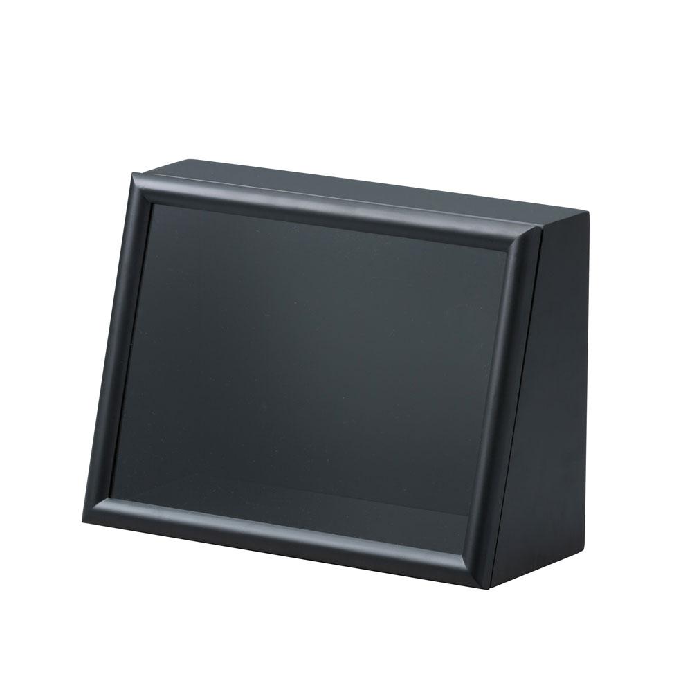 ななめボックス AC A4ヨコ ブラック :cazaro 展示ケース B0102