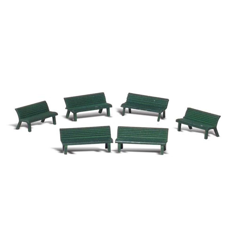 公園のベンチ :ウッドランド 塗装済完成品 O(1/48) A2758