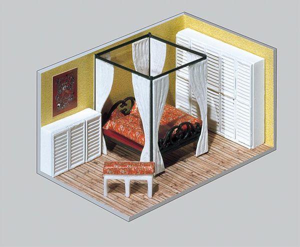 建物内装パーツセット :ファーラー 未塗装キット HO(1/87) 180545