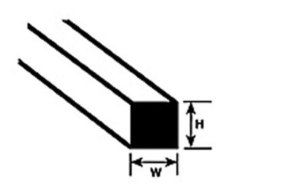 角材・平角材 2.0 x 2.0 x 250 mm :プラストラクト プラ材 ノンスケール 90760