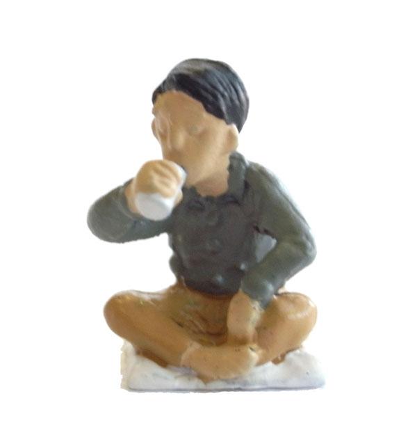 さかつう人形シリーズまなべコレクション 晩酌中(座布団つき) :さかつう 塗装済完成品 HO(1/87) 7522