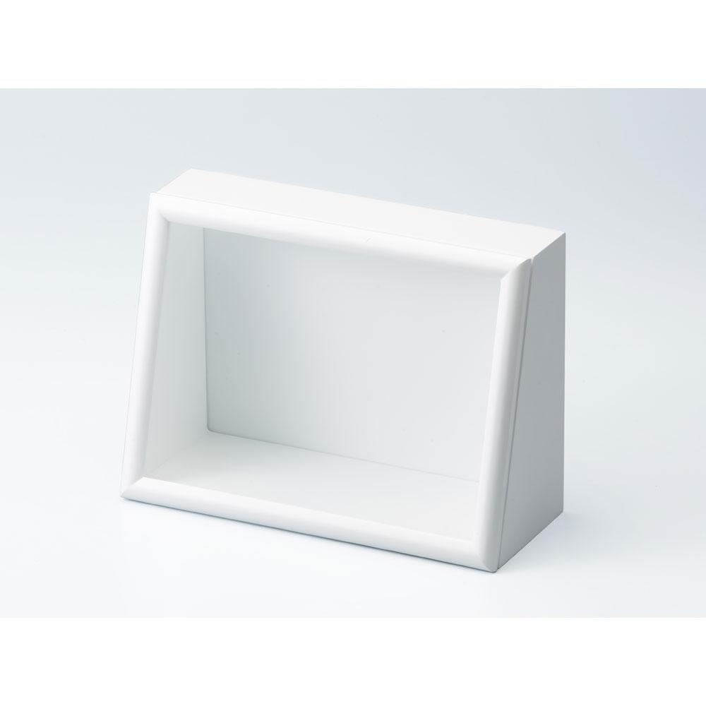 ななめボックス AC A4ヨコ ホワイト :cazaro 展示ケース B0101