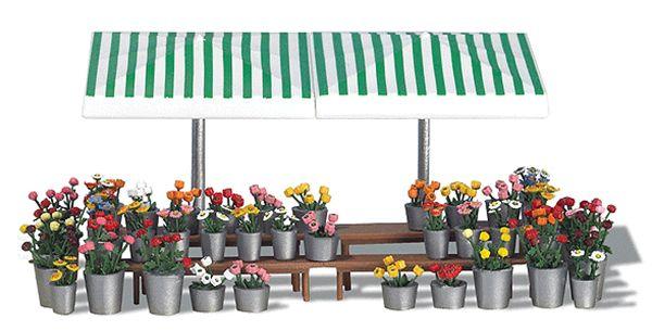 花の露店 :ブッシュ 未塗装キット HO(1/87) 1072