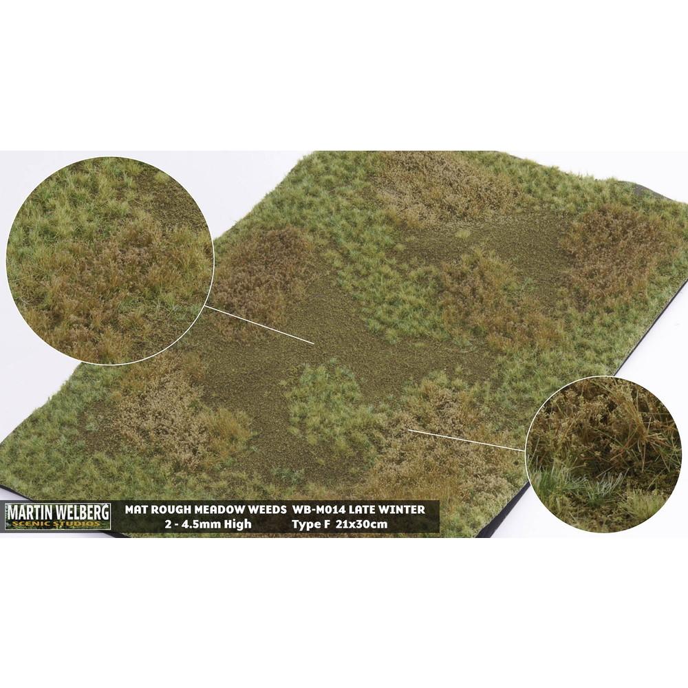マットタイプ(牧草地) 全高4.5mm 冬 パウダー付き :マルティン・ウエルベルク ノンスケール WB-M014