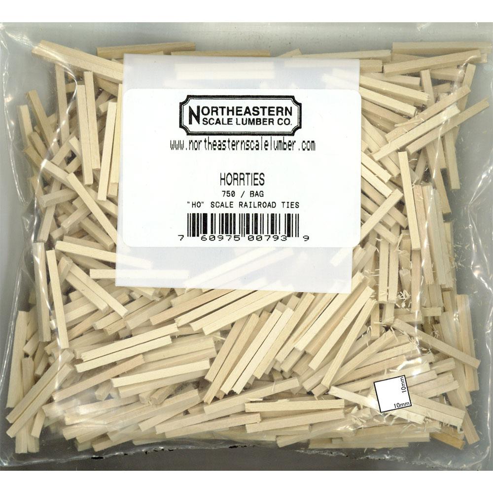 木製枕木 750本入り :ノースイースタン 木材 HO(1/87) 00793