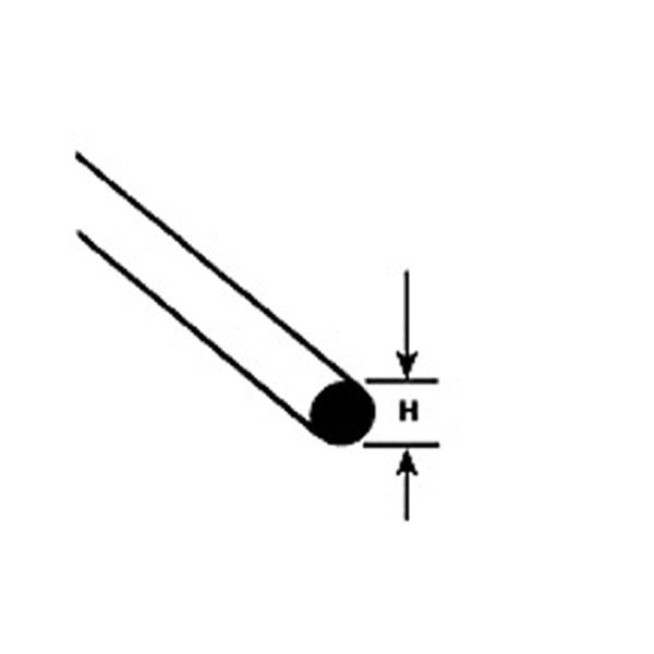 丸棒 0.3 x 250 mm :プラストラクト プラ材 ノンスケール 90850