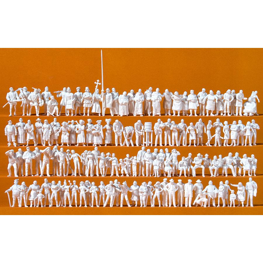 中世のお祭りの人々 125体入り :プライザー 未塗装キット HO(1/87) 16359