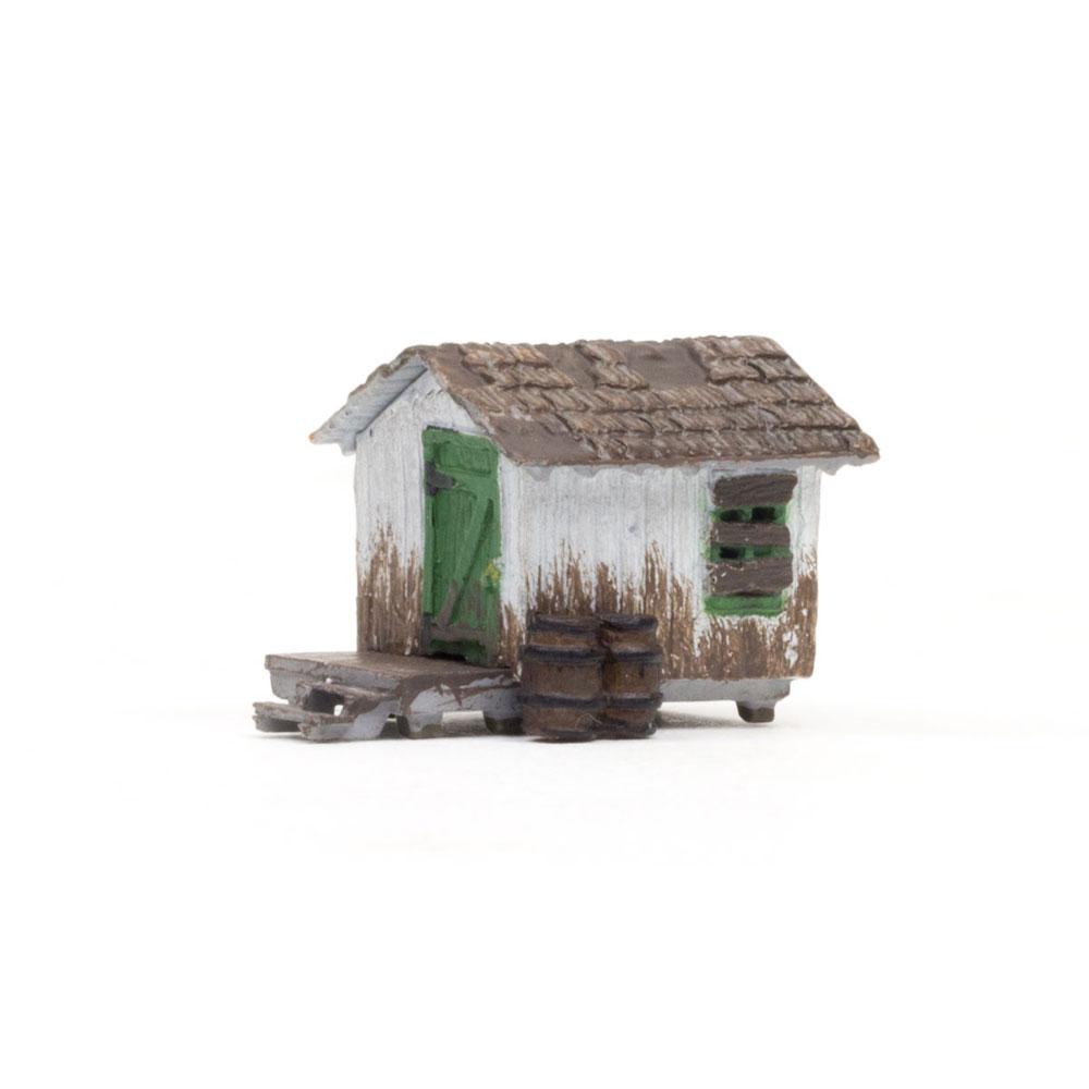 木の小屋 :ウッドランド 塗装済完成品 N(1/160) BR4948