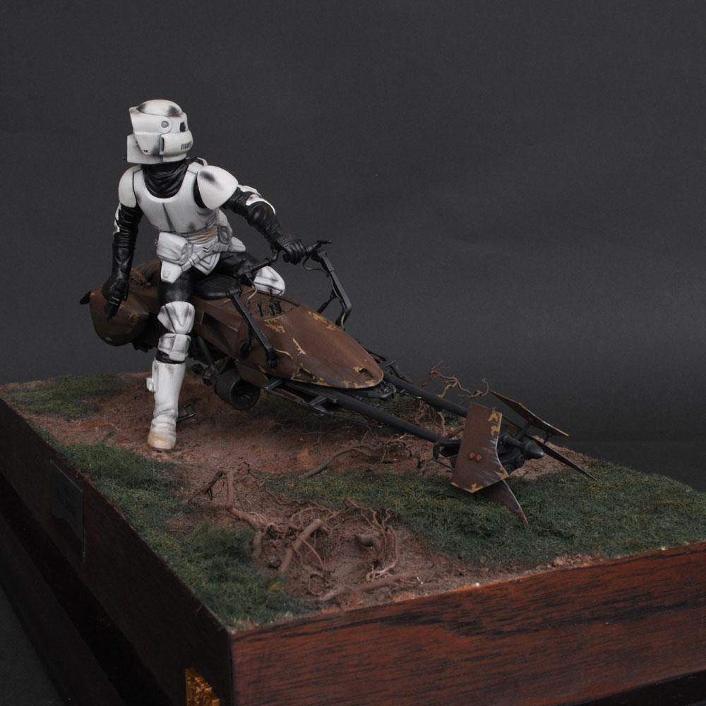 THE BIKE CHASE Endor バイクチェイス・エンドア イングランド槍騎兵 :淺木紳士郎 塗装済完成品 ノンスケール