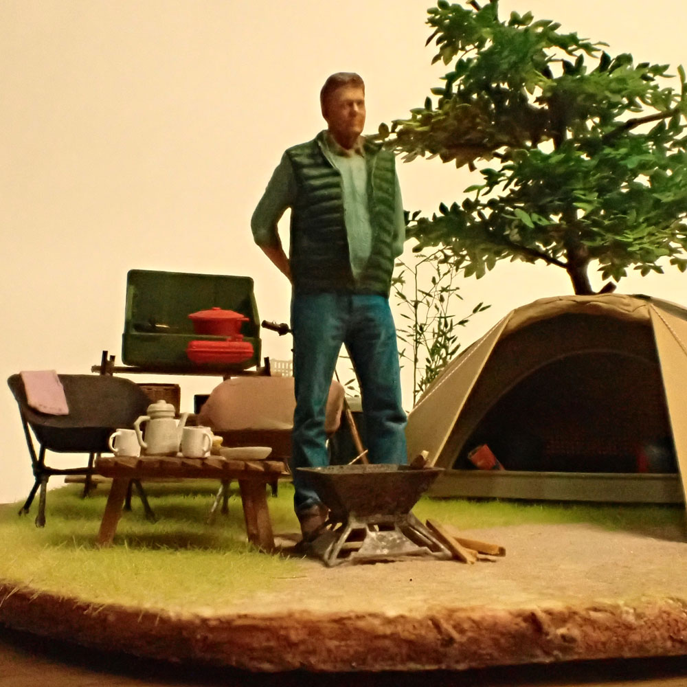 キャンプ :ライオン模型 藤平翔 塗装済完成品 1/24スケール
