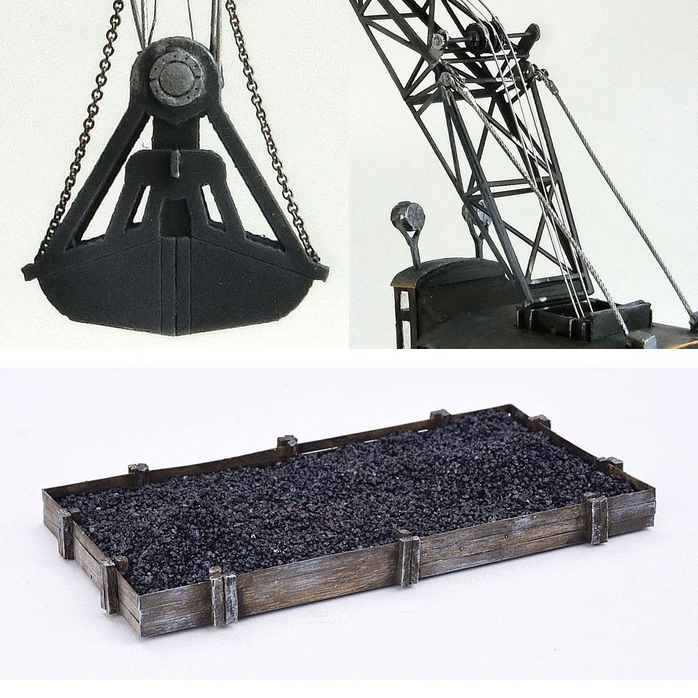 とれいん掲載 高脚ジブクレーンと新式単線型炭槽(石炭置き場付き) :匠ジオラマ工芸舎 塗装済完成品 HO(1/80) 1049