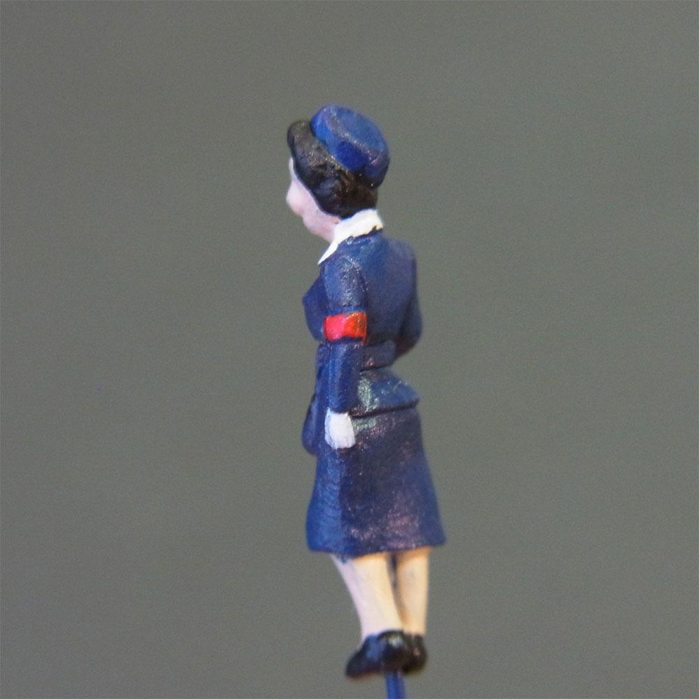 さかつう人形シリーズまなべコレクション バスの車掌さん :さかつう 塗装済完成品 HO(1/87) 7520