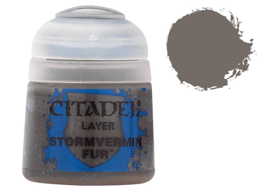 シタデル・レイヤー Stormvermin Fur(ストームヴァーミン・ファー) :ゲームズワークショップ つや消し塗料 22-55