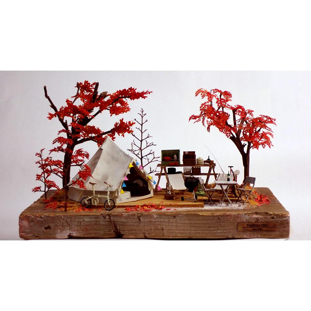 秋のグランピング :ライオン模型 藤平翔 塗装済完成品 1/24スケール