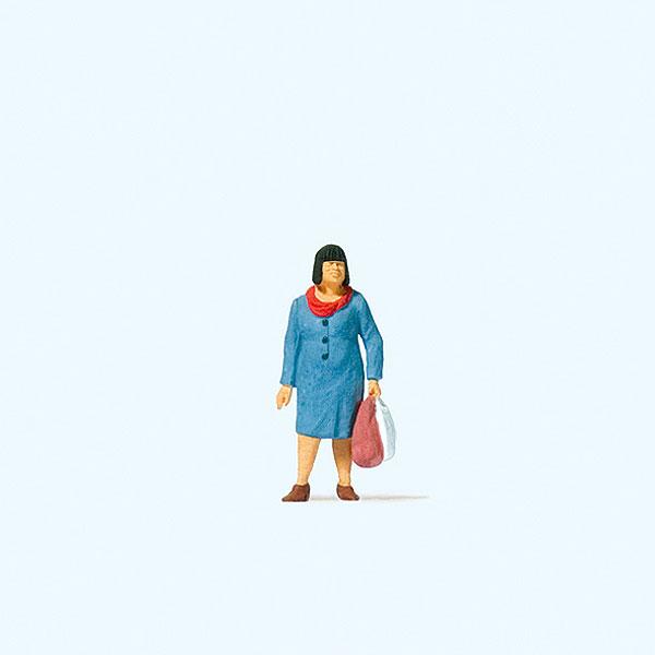 買い物客の女性 :プライザー 塗装済完成品 HO(1/87) 28201