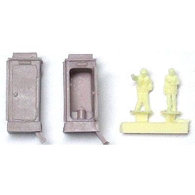 仮設トイレ :YSK 未塗装キット N(1/150) 品番328