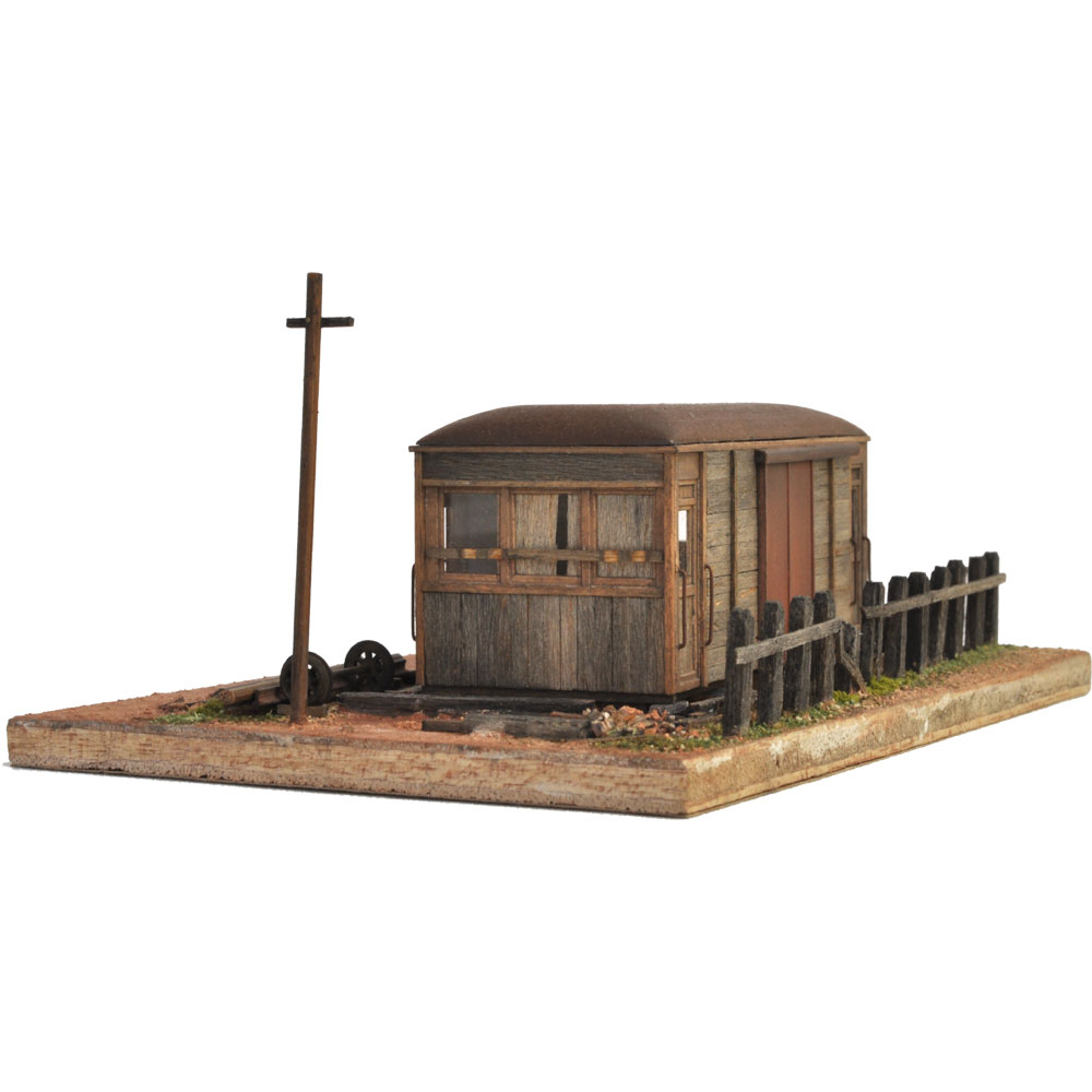 日立電鉄風木造貨電ダルマのある情景 :松井工機 塗装済完成品 HO(1/80)
