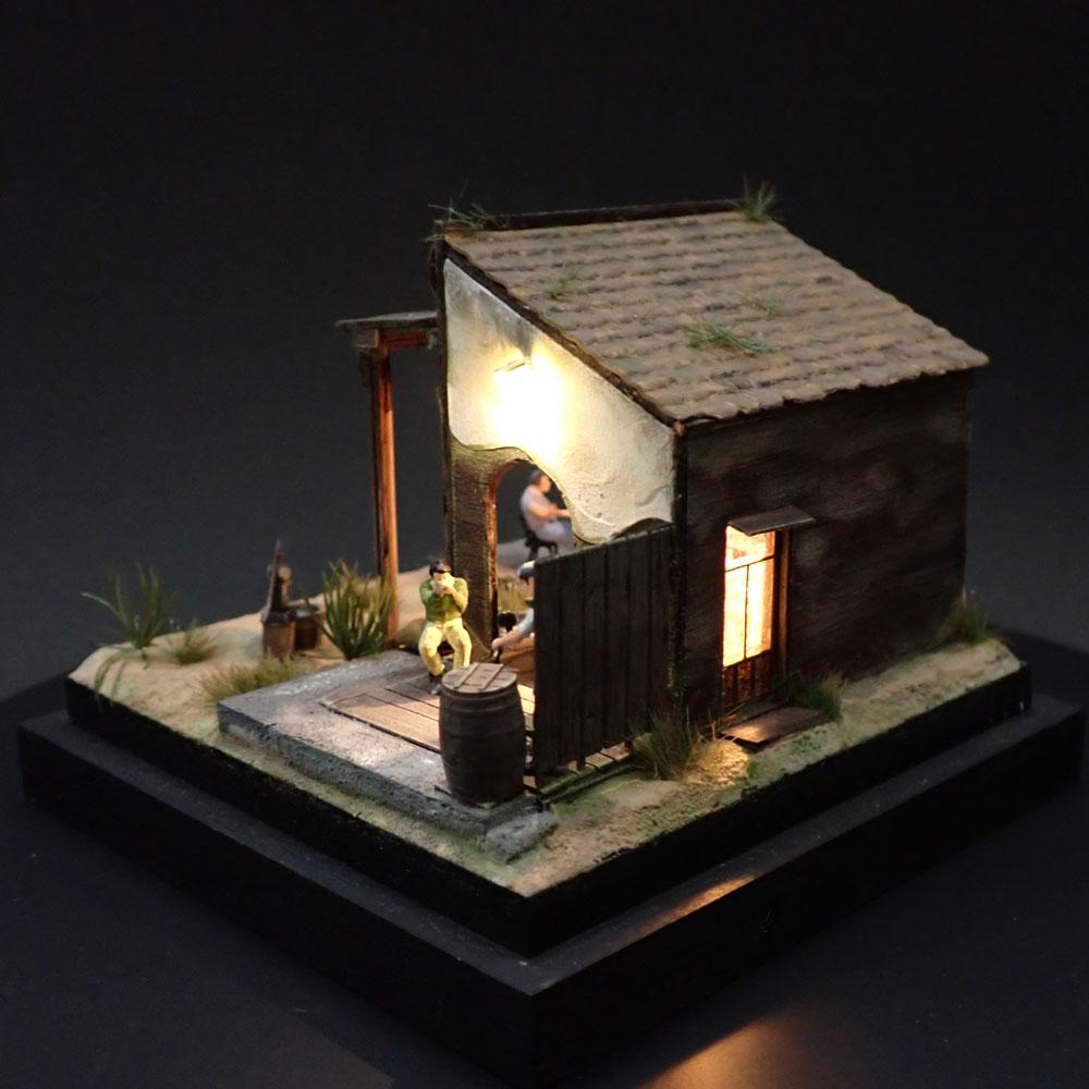 90ミリキューブミニチュア 「WESTERN BAR 1」 :太郎 塗装済完成品 ノンスケール