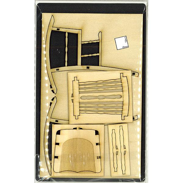 【模型】 アンティークロッキングチェアー :コバーニ 未塗装キット 1/12 WF-020