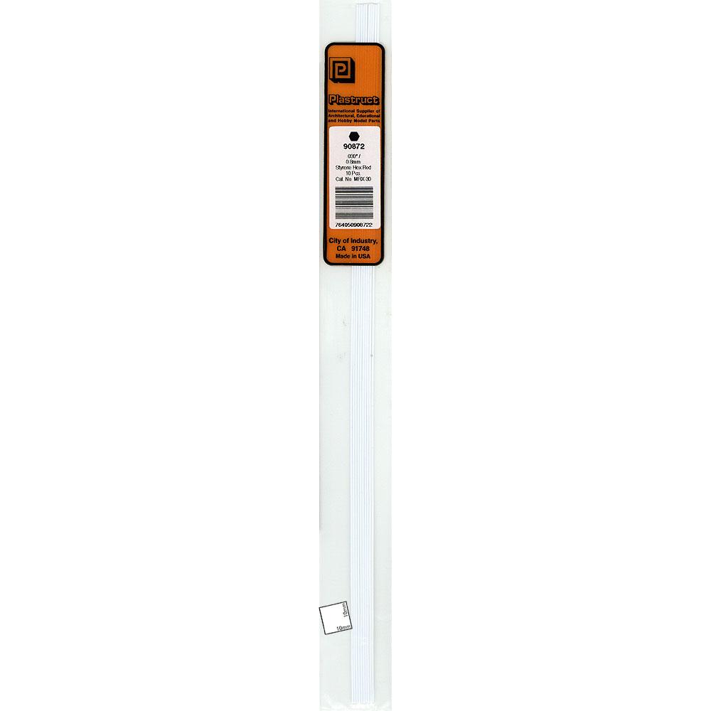 六角材・六角棒 0.8 x 250 mm :プラストラクト プラ材 ノンスケール 90872