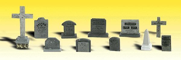 墓石、墓標 :ウッドランド 塗装済完成品 N(1/160) 2164