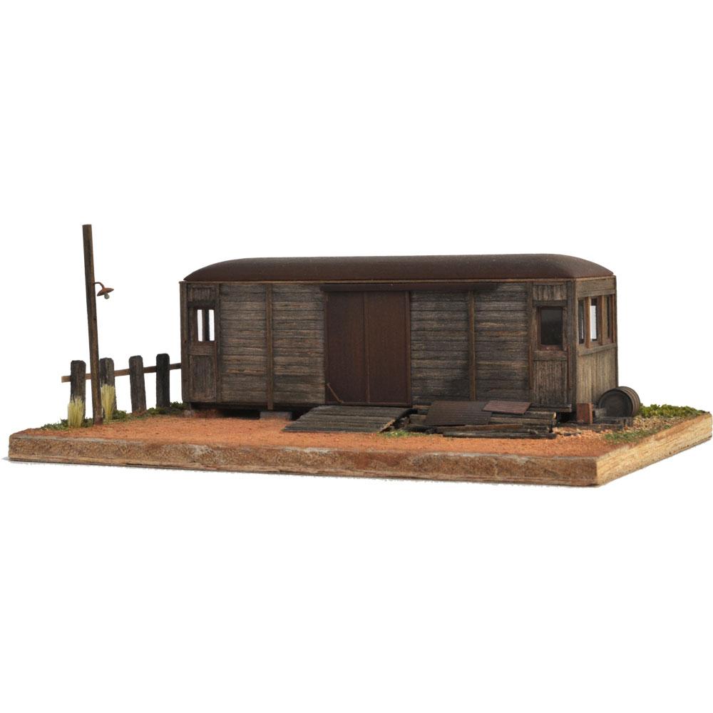 地方私鉄木造貨電ダルマのある情景 :松井工機 塗装済完成品 HO(1/80)