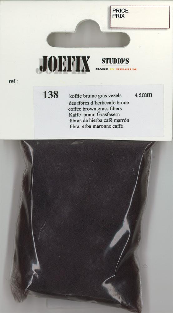 繊維系素材 コーヒ−ブラウンの草(4.5mm高さ) :ジョーフィクス 素材 ノンスケール 138