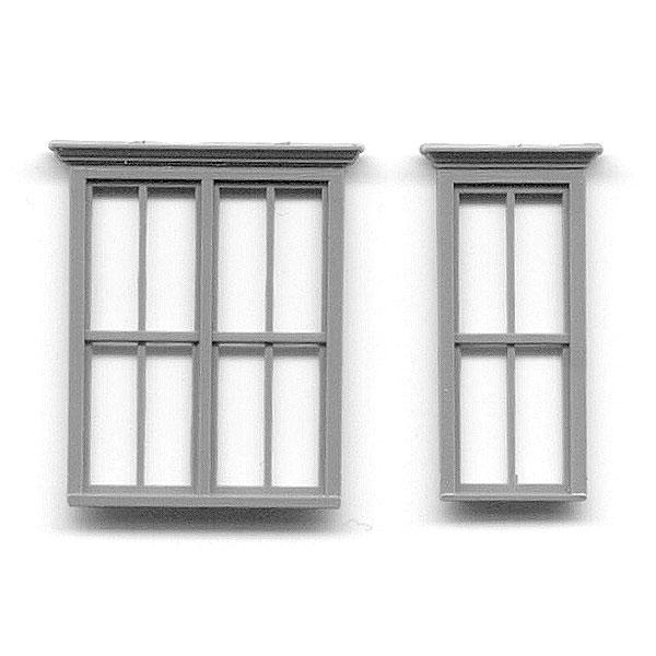 洋風窓 ビクトリア調窓枠 :グラントライン 未塗装キット(部品) HO(1/87) 5116