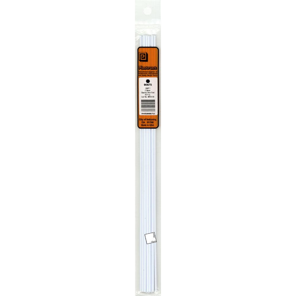 六角材・六角棒 2.0 x 250 mm :プラストラクト プラ材 ノンスケール 90875