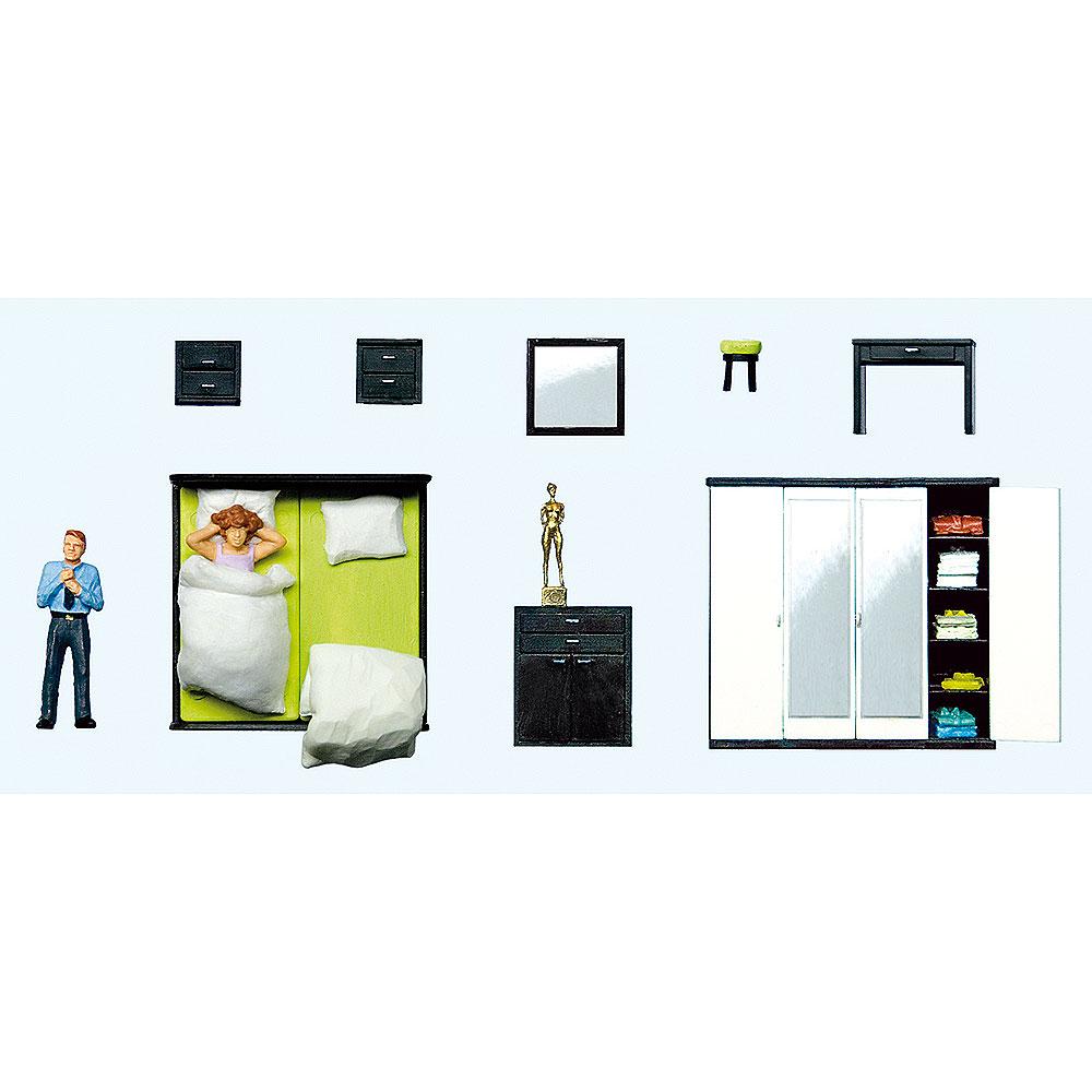 起床 寝室家具(ベッドルームファニチャー) :プライザー 塗装済完成品 HO(1/87) 10632