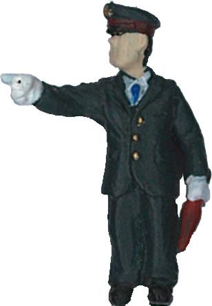 さかつう人形シリーズまなべコレクション 指差確認中の駅員 :さかつう 塗装済完成品 HO(1/87) 7516