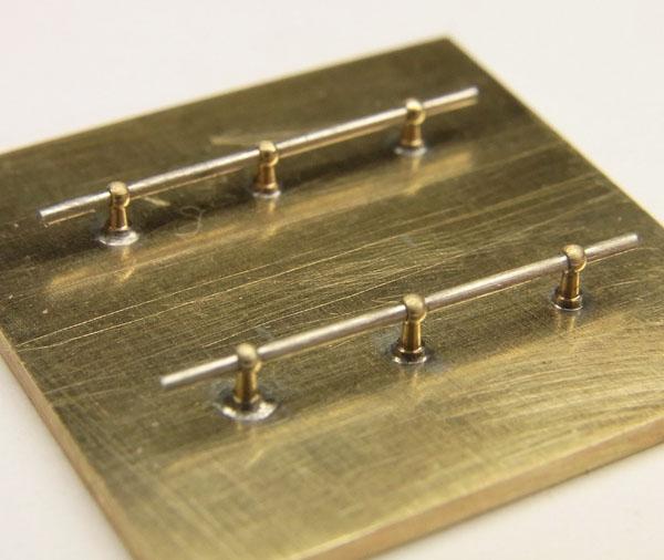 ハンドレールノブ 高さ1.2mm 0.4mm線用 6個入り :さかつう ディテールアップ ノンスケール 5002