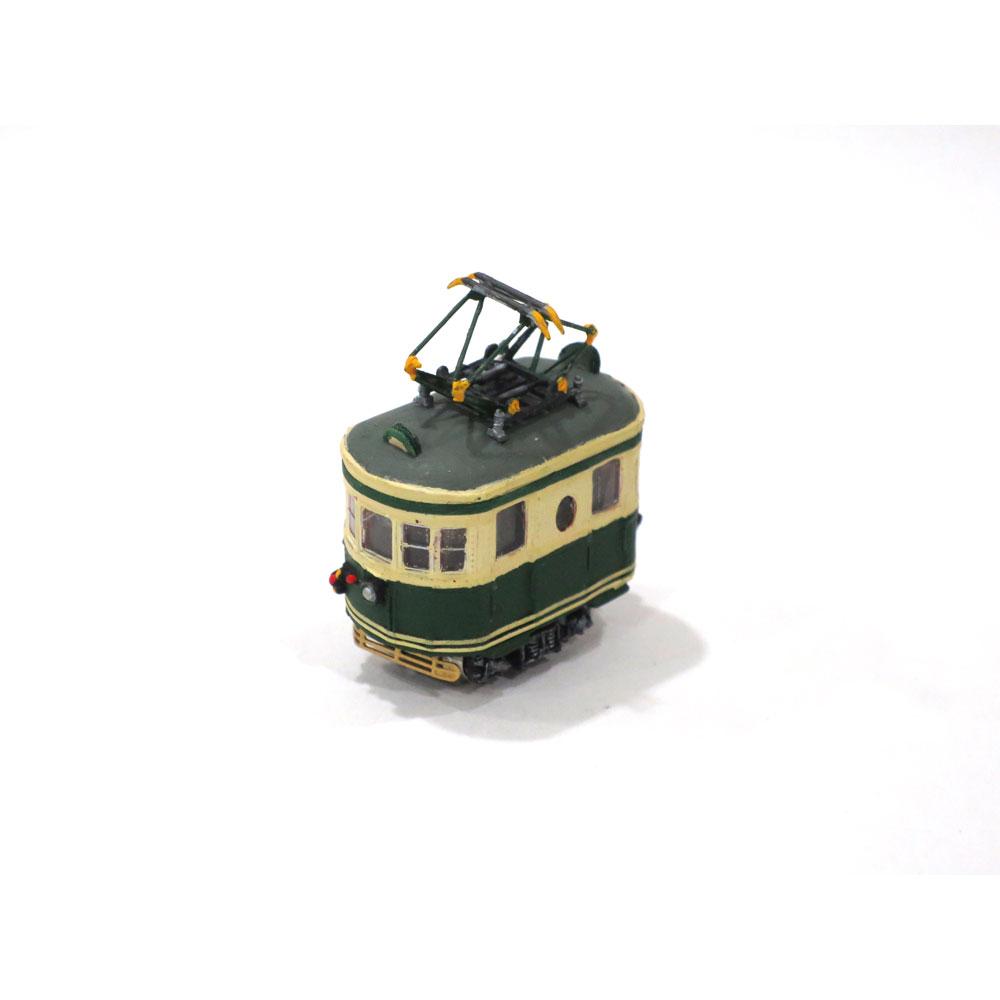 電池内蔵自走式 ミニミニトレイン <緑> パンタグラフ仕様 :石川宜明 塗装済完成品 N(1/150)