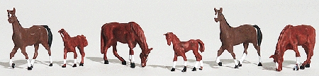 栗毛の馬 :ウッドランド 塗装済完成品 HO(1/87) 1842
