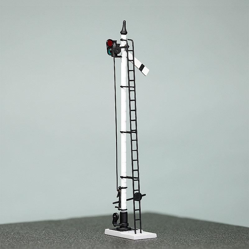 1/80 国鉄型腕木式信号機 「出発信号機」 戦前タイプ(原形) <裏眼鏡連動 可動タイプ> :工房ナナロクニ 塗装済完成品 1/80(HO) 1061