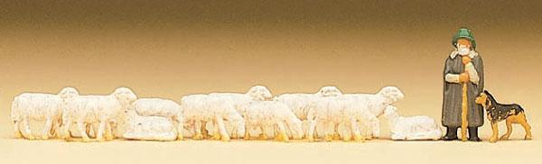 羊飼いと羊と犬 :プライザー 塗装済完成品 N(1/160) 79160